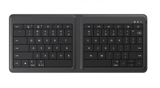 Microsoft представила складную Bluetooth-клавиатуру для мобильных устройств