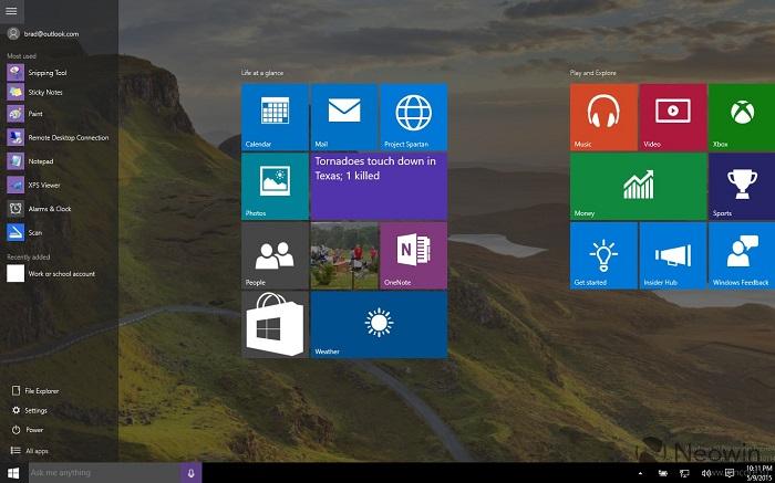 Новую сборку Windows 10 показали на видео